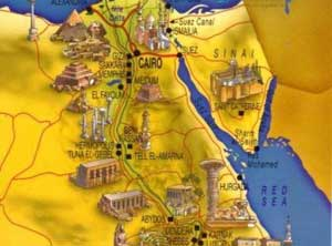 Egyptian Pyramids And Their Location - Map of egypt pyramid locations